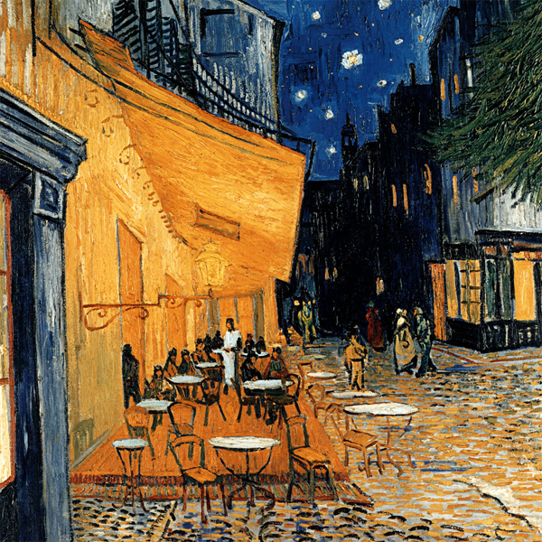 Cafe Terasse in the Evening - Vincent Van Gogh