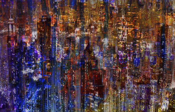 City scene abstract