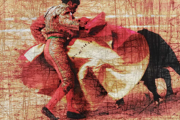 San Miguel, Bullfight #1 - Doug Landreth