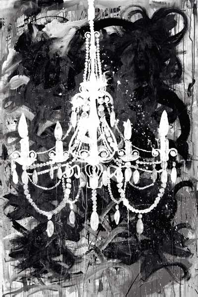 Chandelier Black and White
