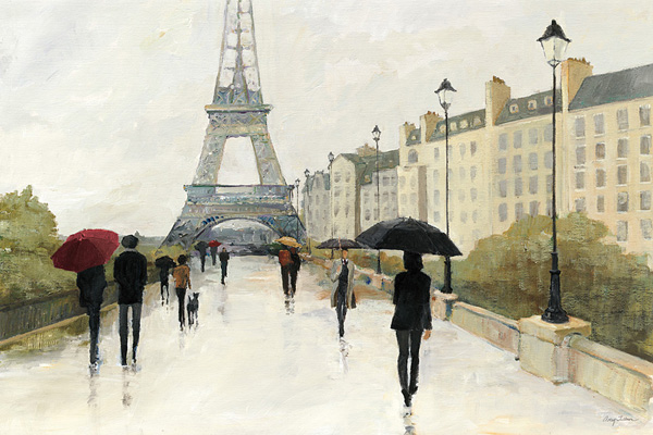 Eiffel in the Rain Marsala Umbrella - Avery Tillmon